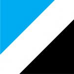 Licht blauw-Wit-Zwart