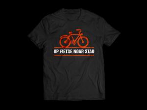 Op-fietse-noar-stad-t-shirt